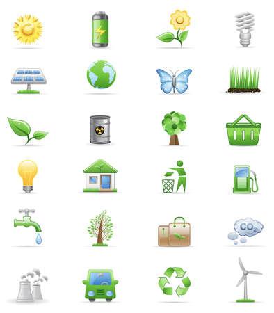 Environment icon set  Illustration
