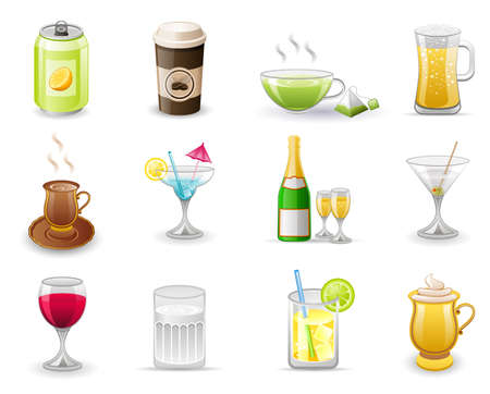 Drinks icon set Stock Vector - 6947962