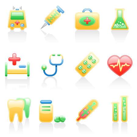 Medicine icon set. Illustration