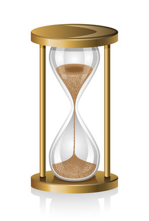 sand timer: Hourglass isolated on white background. Illustration