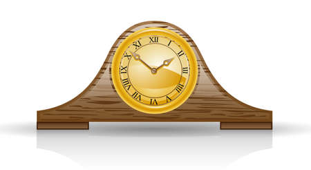 Clock isolated on white background Stock Vector - 8508377