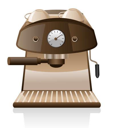 Machine � espresso isol� sur fond blanc.