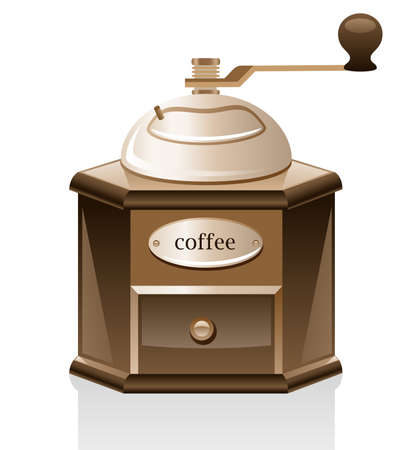Coffee grinder isolated on white background. Stock Vector - 8985228