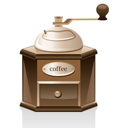 Kaffeemühlen isolated on white Background. Vektorgrafik