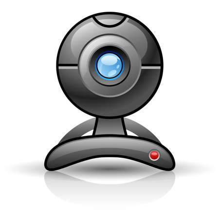 Web camera isolated on white background. Illustration