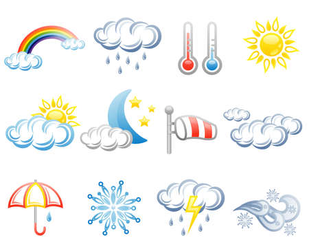 Weather isolated on white background. Vector