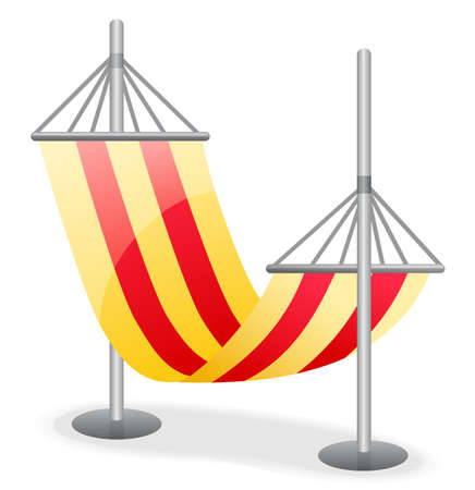 Hammock  isolated on a white background. Illustration