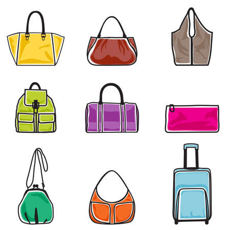 illustration of bags on white background Stock Vector - 15642577