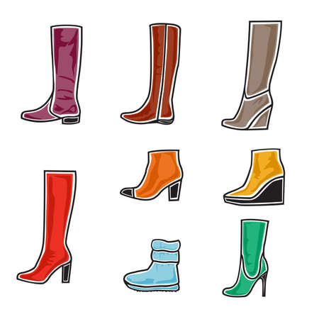 illustration of boots on white background Stock Vector - 16112819