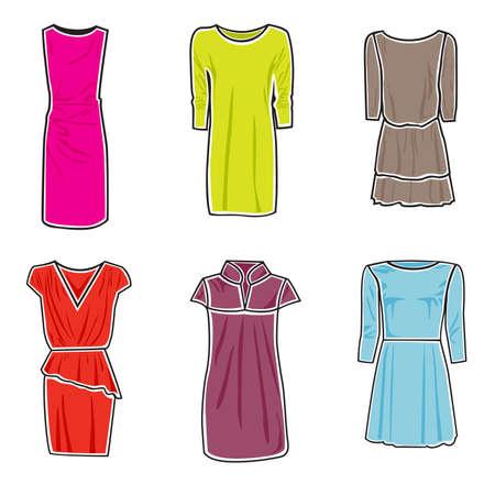 Vector illustration of dresses on white background Stock Vector - 16112820