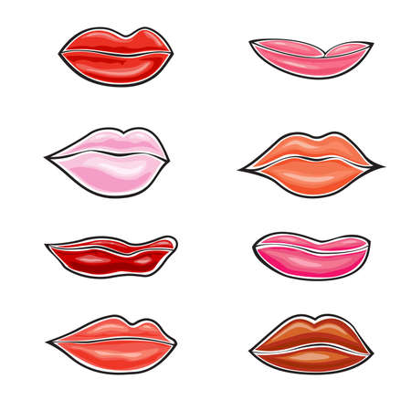 Illustration of lips on white background Stock Vector - 16564865