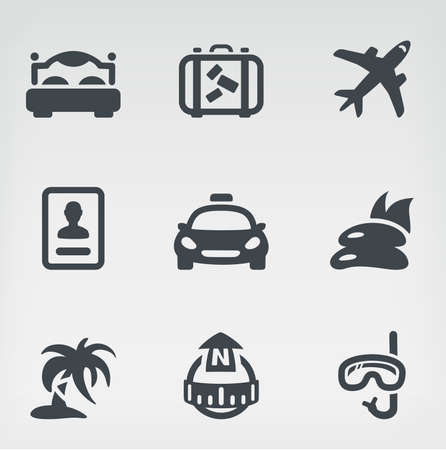 illustration of travel on light background Vector