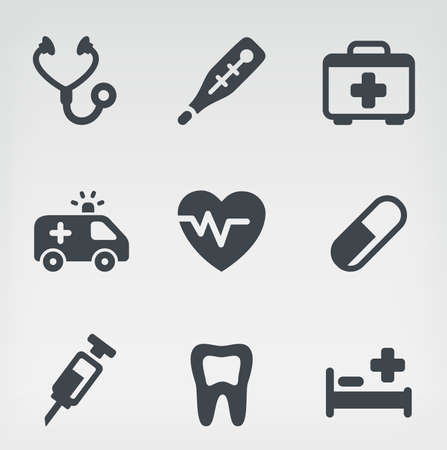 stethoscope icon: Vector illustration of medicine on light background. Illustration