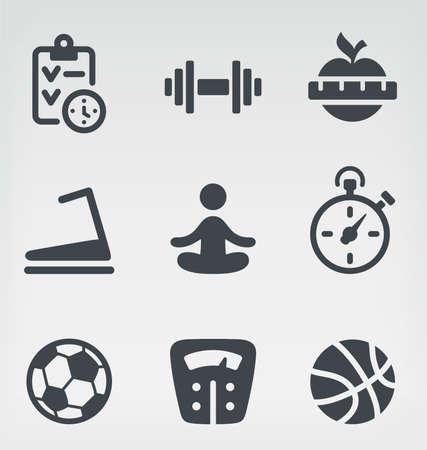 illustration of fitness on light background