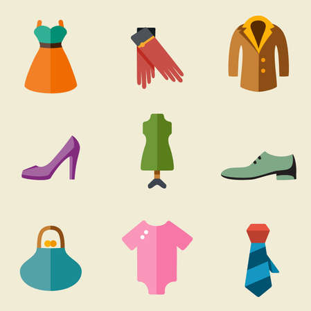 Vector illustration of fashion color on light background Vector