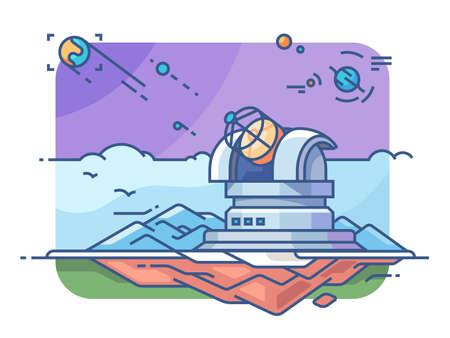 Observatoire avec télescope