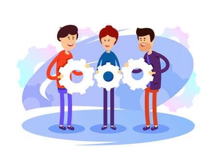 Successful development team Illustration