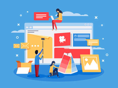 Creation of web design for site Stock Photo
