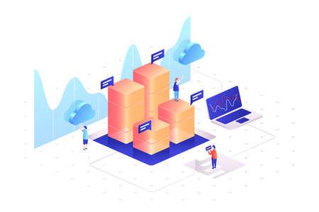 Managing data graphs of statistics. Analyzing information
