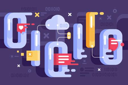 Binary representation in the world of data.