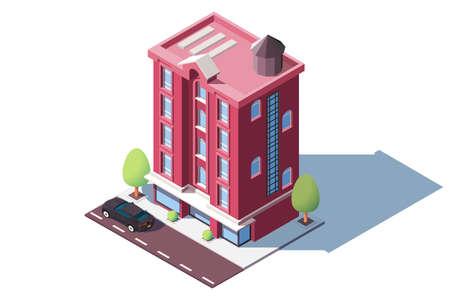 Mid rise urban house 向量圖像