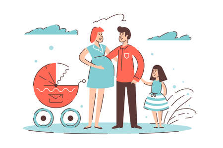 Big happy family Banque d'images - 127860531