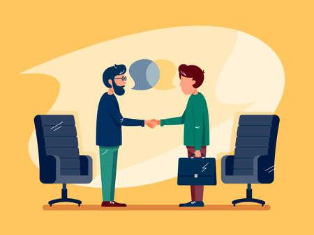 Business conversation at meeting Banco de Imagens