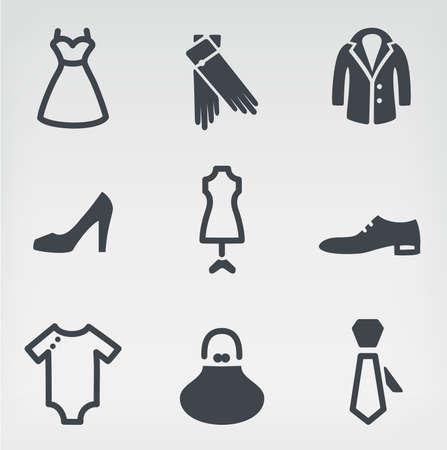 The illustration of fashion. The Icon set