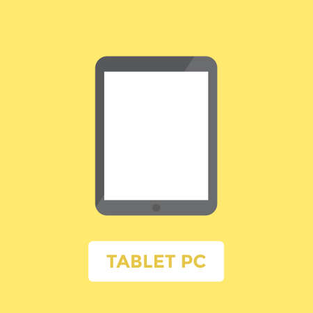 blank tablet: Tablet PC with blank screen. Flat design vector illustration