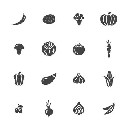 Vegetables icons Illustration
