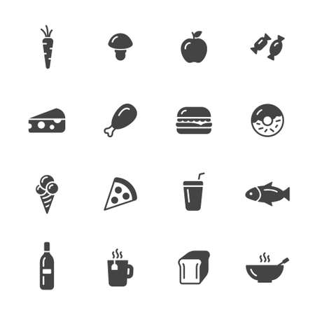 food icons: Fast and healthy food icons
