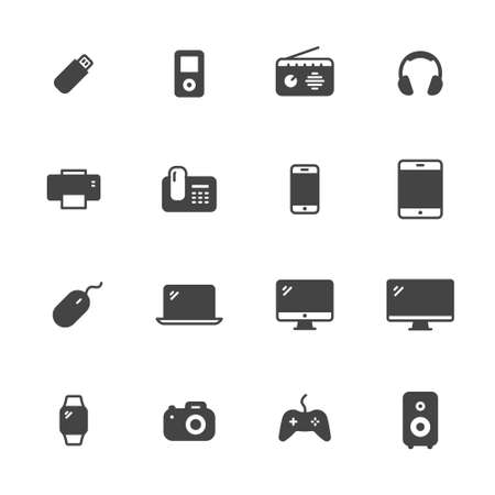 Electronic devices icons Illustration