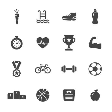 Fitness and sport icons Stock Vector - 48519548