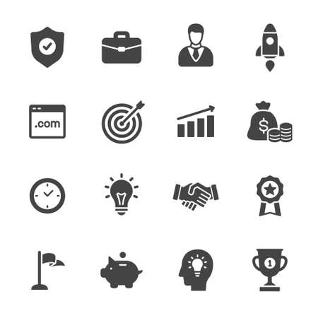 solutions icon: Business icons