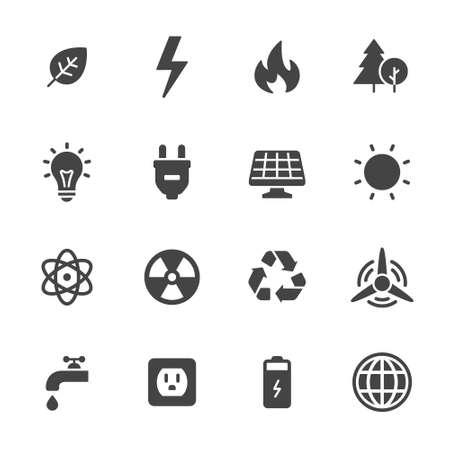 Energy and ecology icons Illustration