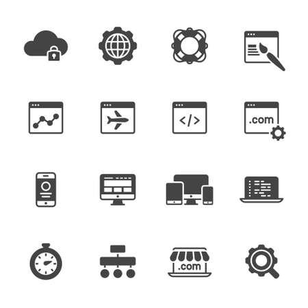 Iconos de desarrollo de sitios web Foto de archivo - 49176269