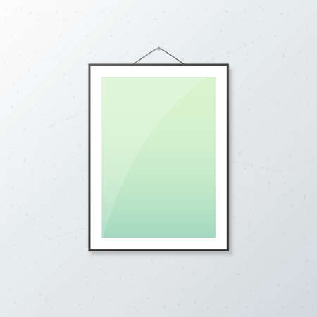 A4 Poster mock up with white sheet isolated on wall. Realistic mock up template
