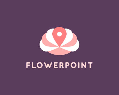 Flower logo design template. Abstract yoga spa logo element. Lotus symbol icon