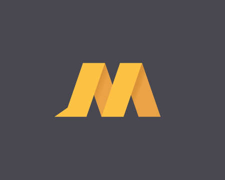 Letter M logo design template. Abstract marketing app symbol. Web technology logo element icon