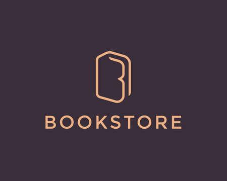 book store: Book icon design template.