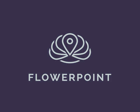 Flower logo design template. Yoga spa logo element. lotus symbol line icon Stock Vector - 52944760