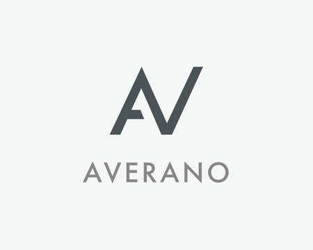 AV Letter monogram logo design. A, V and N initials mark. AN symbol