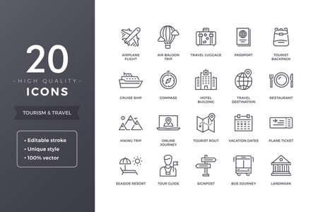 Travel Line Icons