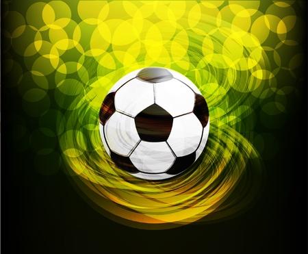 pelotas de deportes: Fondo de f�tbol vector