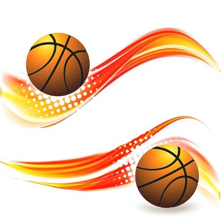 basketball advertising poster. Illustration