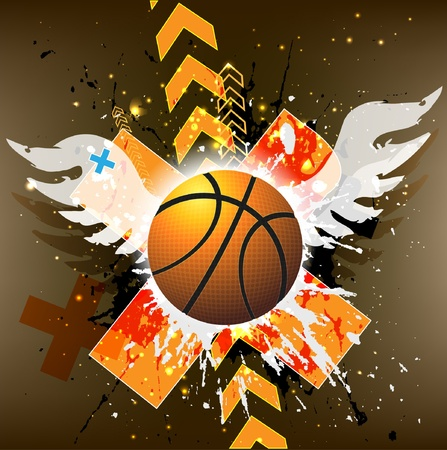 basketball advertising poster. Vector
