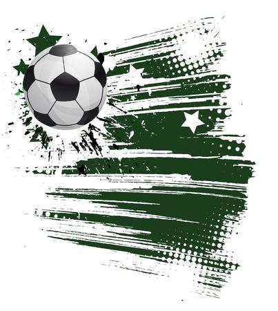 grunge football background Stock Vector - 9842641