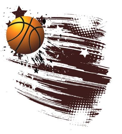 flaming: basketball advertising poster. Illustration