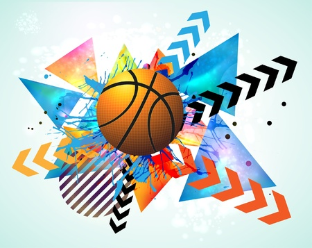 fast ball: basketball advertising poster. Illustration