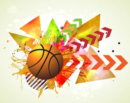 light speed: basketball advertising poster. Illustration